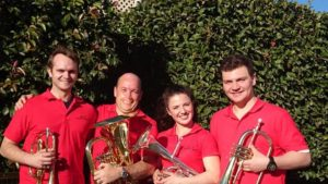 Holroyd Quartet 2nd Place Winners. Richard Sandham, Andy Yule, Bella Harvey & Raph Harvey.